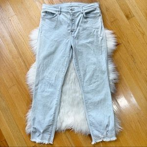 7 For All Mankind Edie Straight Crop Jeans Size 31